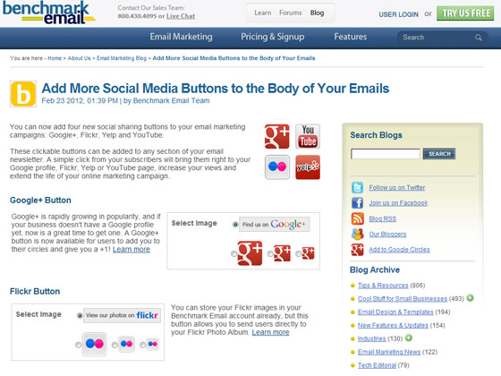 Add More Social Media Buttons to the Body of Your Emails