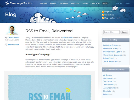 CampaignMonitor - RSS to Email, Reinvented
