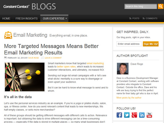 ConstantContact - More Targeted Messages Means Better Email Marketing Results