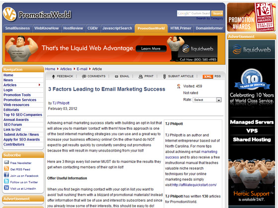 PromotionWorld - 3 Factors Leading to Email Marketing Success
