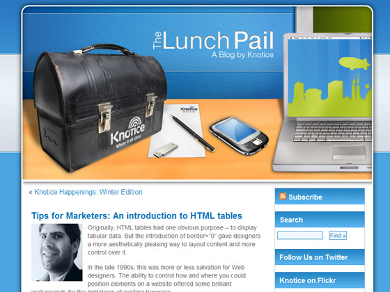 Tips for Marketers: An introduction to HTML tables