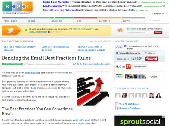 Bending the Email Best Practices Rules