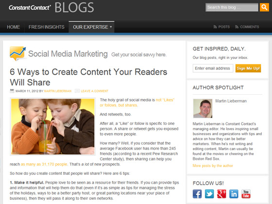 Constant Contact - 6 Ways to Create Content Your Readers Will Share