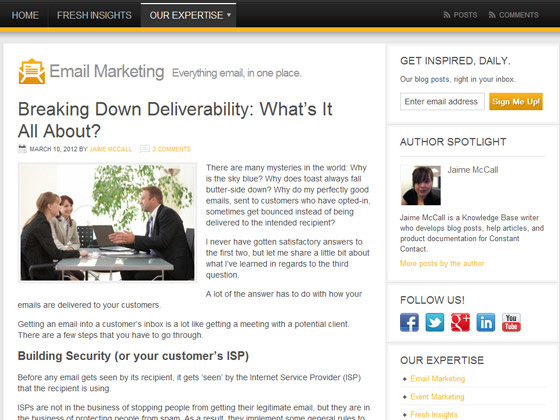 Constant Contact - Breaking Down Deliverability: What's It All About?