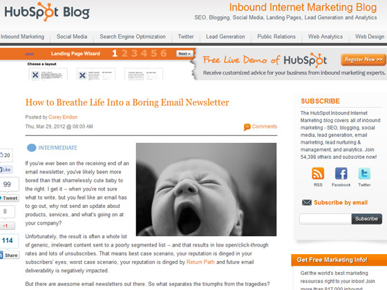 HubSpot - How to Breathe Life Into a Boring Email Newsletter