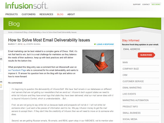 Infusionsoft - How to Solve Most Email Deliverability Issues