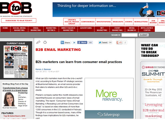 BtoB - B2b marketers can learn from consumer email practices