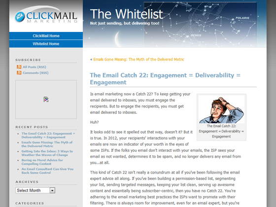ClickMail - The Email Catch 22: Engagement = Deliverability = Engagement