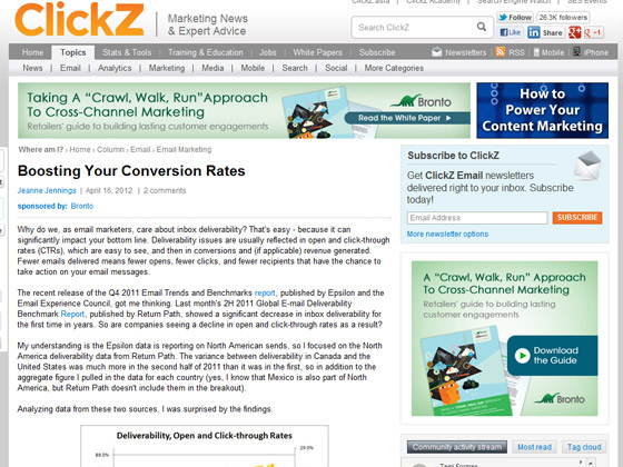 ClickZ - Boosting Your Conversion Rates