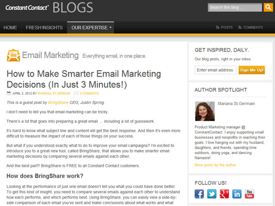 Constant Contact - How to Make Smarter Email Marketing Decisions (In Just 3 Minutes!)