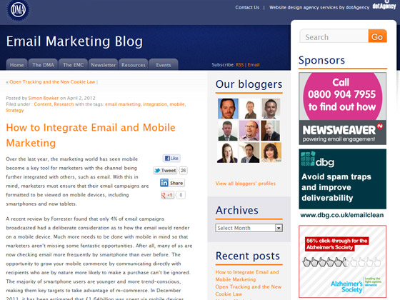 DMA - How to Integrate Email and Mobile Marketing