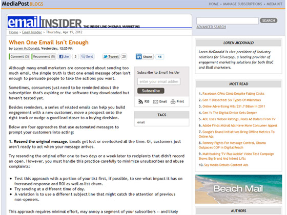 MediaPost – When One Email Isn't Enough – The eMail Guide