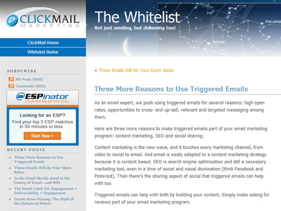 ClickMail - Three More Reasons to Use Triggered Emails