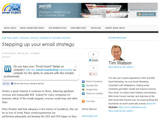email expert - Stepping up your email strategy
