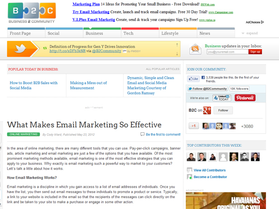 Business2Community - What Makes Email Marketing So Effective