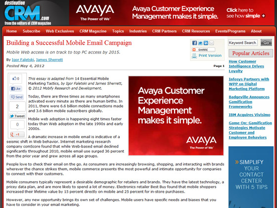 CRM - Building a Successful Mobile Email Campaign
