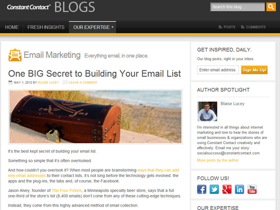 Constant Contact - One BIG Secret to Building Your Email List
