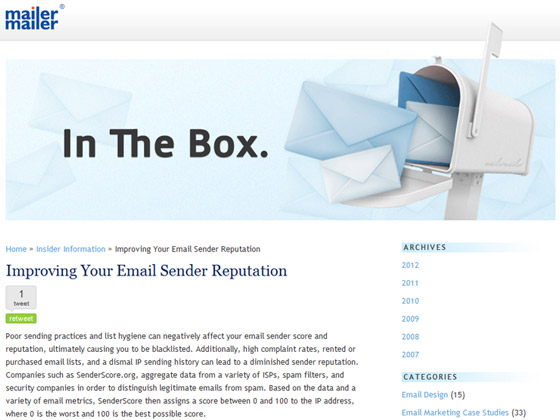 MailerMailer - Improving Your Email Sender Reputation