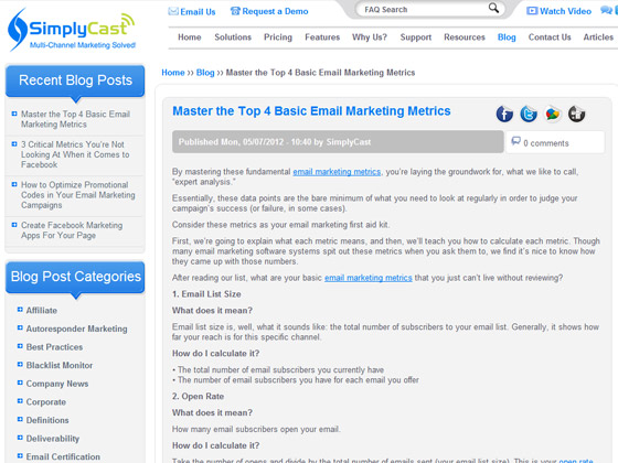 SimplyCast - Master the Top 4 Basic Email Marketing Metrics