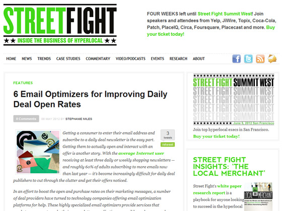 Street Fight - 6 Email Optimizers for Improving Daily Deal Open Rates