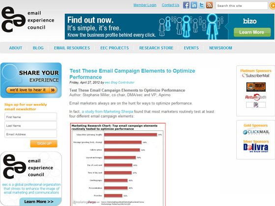 EEC - Test These Email Campaign Elements to Optimize Performance