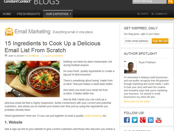 Constant Contact - 15 Ingredients to Cook Up a Delicious Email List From Scratch