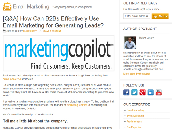 ConstantContact - [Q&A] How Can B2Bs Effectively Use Email Marketing for Generating Leads?