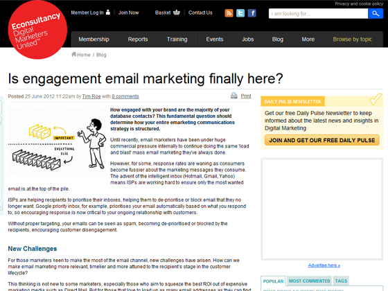 Is engagement email marketing finally here?