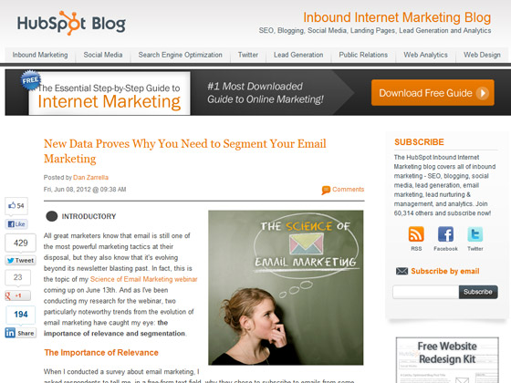 HubSpot - New Data Proves Why You Need to Segment Your Email Marketing