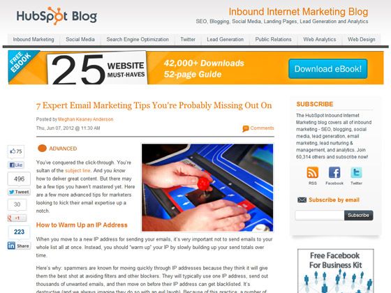 HubSpot - 7 Expert Email Marketing Tips You're Probably Missing Out On