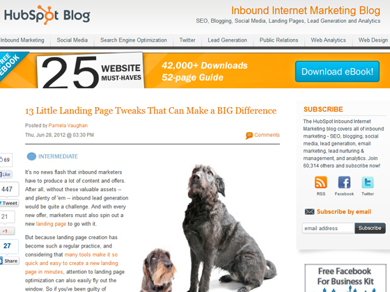 HubSpot - 13 Little Landing Page Tweaks That Can Make a BIG Difference
