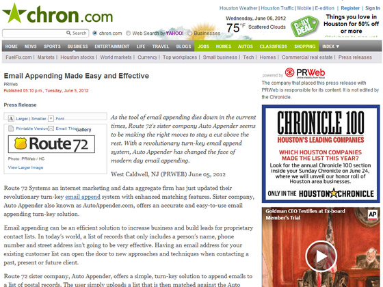 Chron – Email Appending Made Easy and Effective | Email Marketing