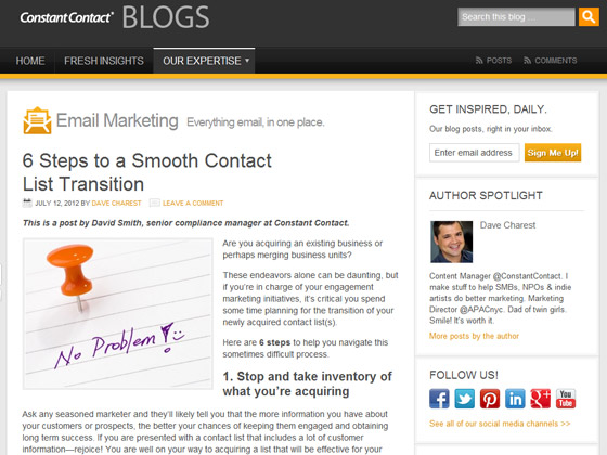 6 Steps to a Smooth Contact List Transition