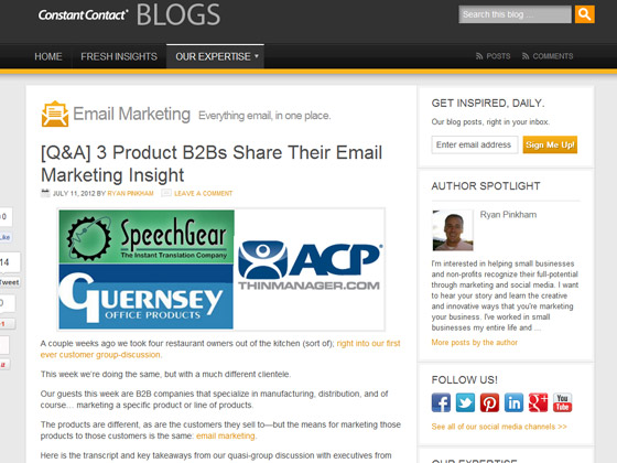 Constant Contact - 3 Product B2Bs Share Their Email Marketing Insight