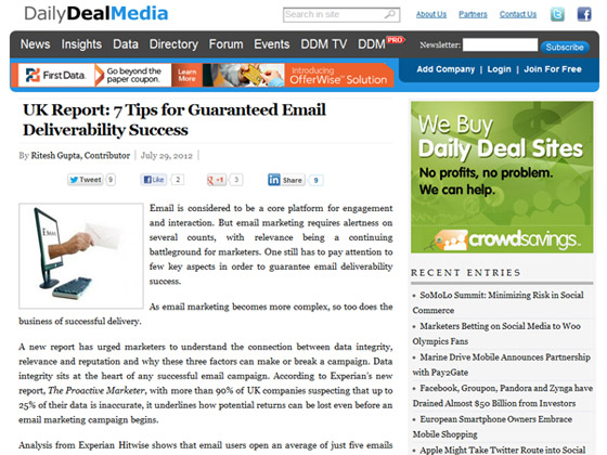 United Kingdom Report: 7 Tips for Guaranteed Email Deliverability Success