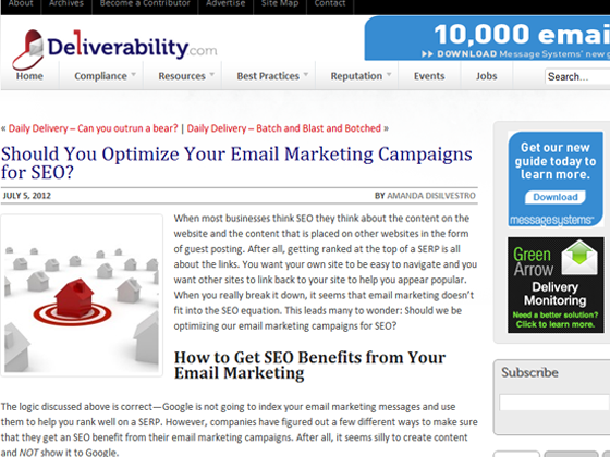Deliverability - Should You Optimize Your Email Marketing Campaigns for SEO?