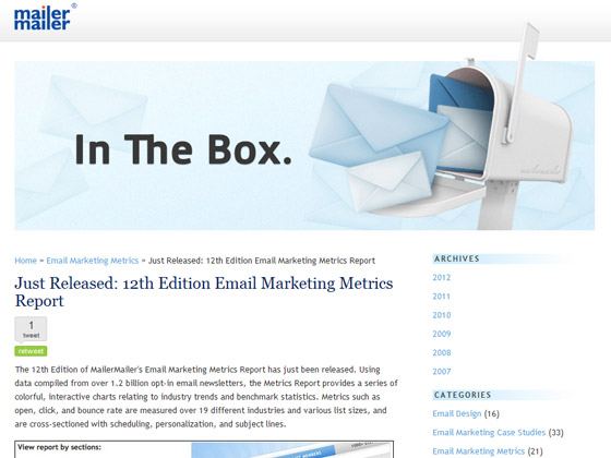 MailerMailer - Just Released: 12th Edition Email Marketing Metrics Report