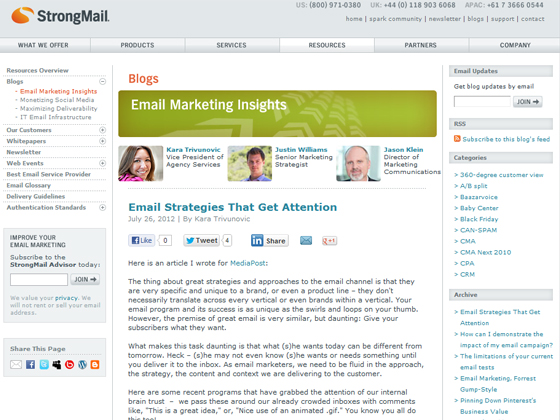 StrongMail - Email Strategies That Get Attention