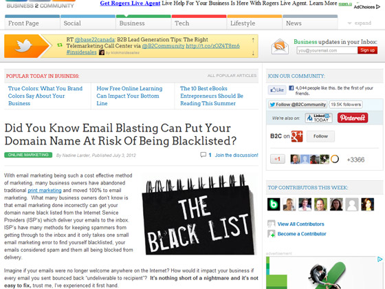Did You Know Email Blasting Can Put Your Domain Name At Risk Of Being Blacklisted?