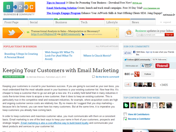 Keeping Your Customers with Email Marketing