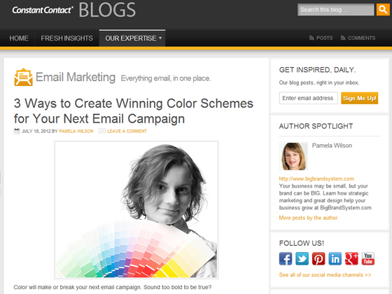 Constant Contact - 3 Ways to Create Winning Color Schemes for Your Next Email Campaign