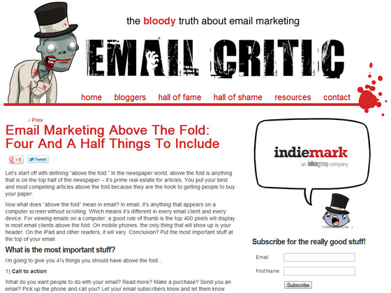 Email Marketing Above The Fold: Four And A Half Things To Include