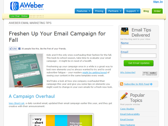 Freshen Up Your Email Campaign for Fall