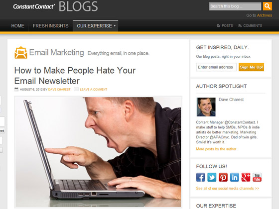 How to Make People Hate Your Email Newsletter
