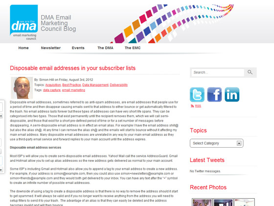 Disposable email addresses in your subscriber lists