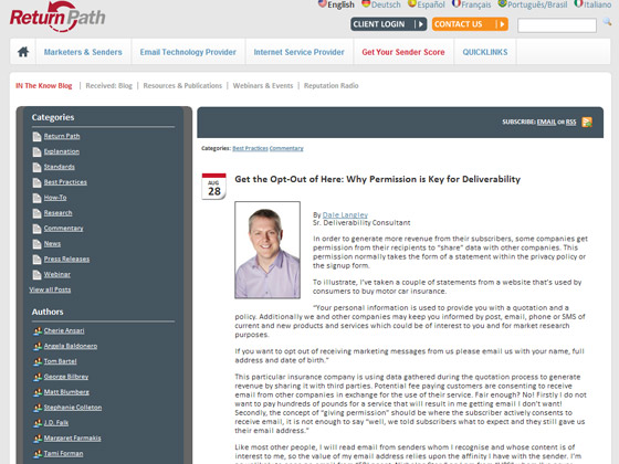 Get the Opt-Out of Here: Why Permission is Key for Deliverability