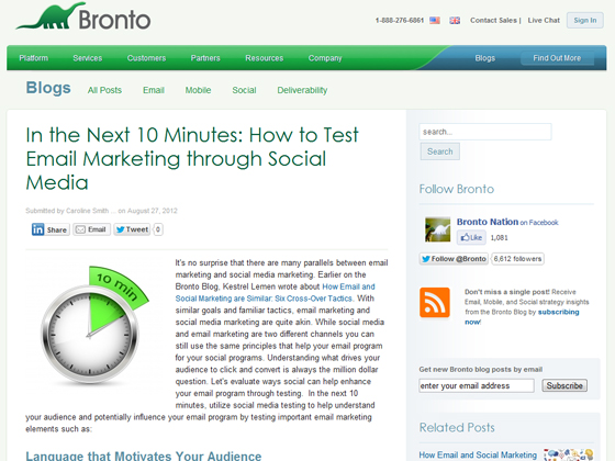 In the Next 10 Minutes: How to Test Email Marketing through Social Media