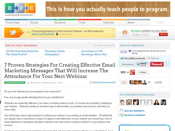 7 Proven Strategies For Creating Effective Email Marketing Messages That Will Increase The Attendance For Your Next Webinar