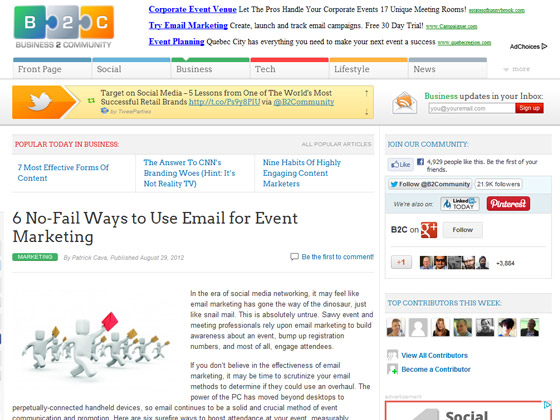 6 No-Fail Ways to Use Email for Event Marketing