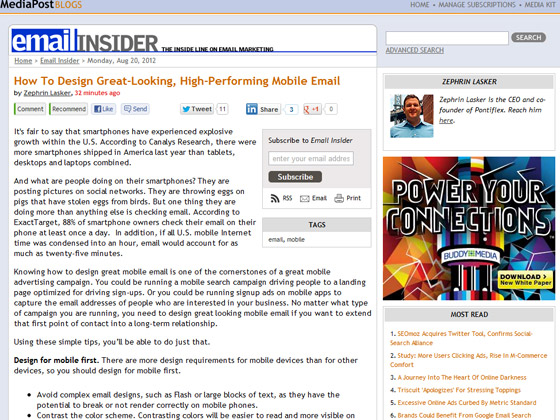 How To Design Great-Looking, High-Performing Mobile Email